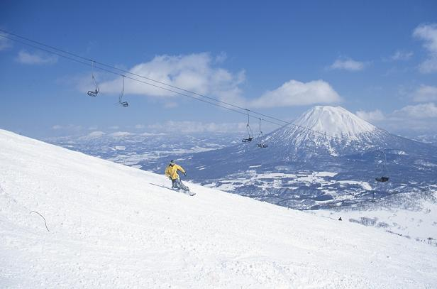 Skiing at Niseko